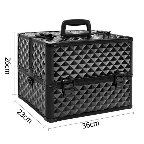 Dwell Lifestyle Diamond Portable Beauty Make Up Case