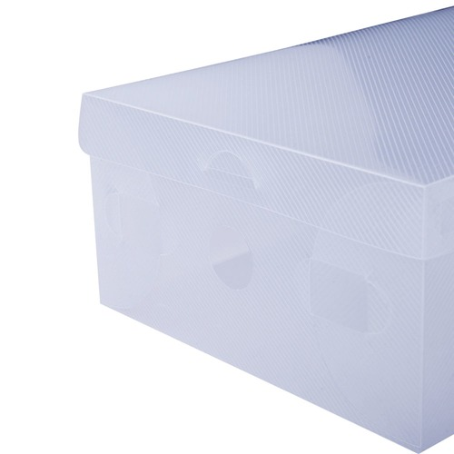 Dwell Lifestyle Clear Foldable Portable Shoe Boxes