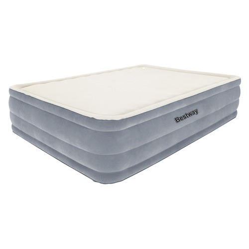 Dwell Lifestyle Bestway Queen Inflatable Air Mattress Bed w/ Built-in Electric Pump Blue