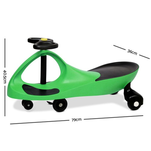 Dwell Lifestyle Green Ride-On Wiggle Scooter