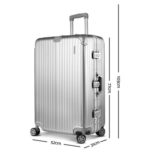 Dwell Lifestyle Silver Liven Aluminium Travel Luggage