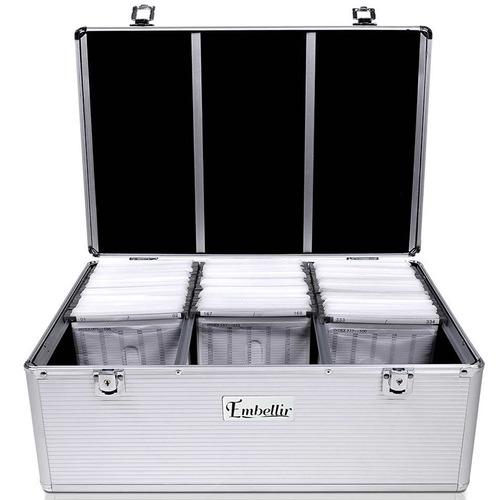 Dwell Lifestyle 500 Capacity Aluminium CD Storage Case
