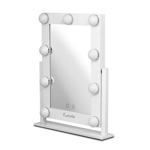 Dwell Lifestyle White Embellir Standing LED Make-Up Mirror