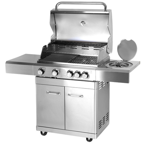 Dwell Lifestyle Silver Grizze Stainless Steel BBQ Grill