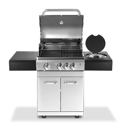Dwell Lifestyle Grizze Stainless Steel 4 Burner BBQ Grill