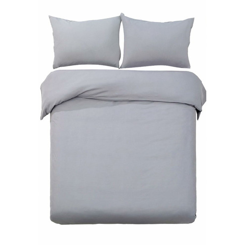 Dwell Lifestyle Grey Adriana Classic Quilt Cover Set