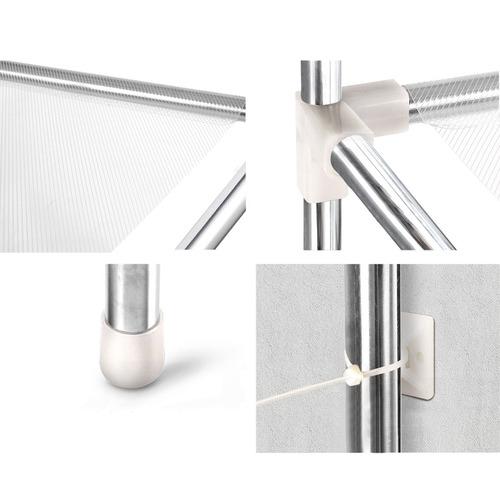 Dwell Lifestyle Silver 3 Tier Bathroom Storage Rack