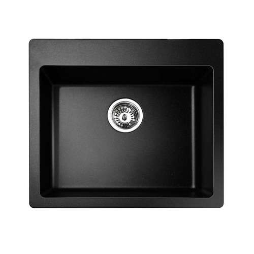 Dwell Lifestyle Black Jer Granite Kitchen Sink
