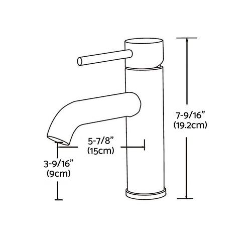 Dwell Lifestyle 19cm Cefito Basin Mixer Tap