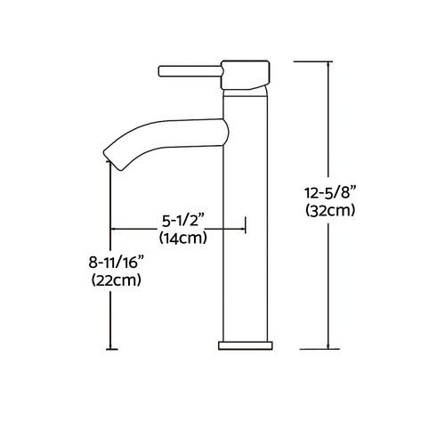 Dwell Lifestyle 32cm Cefito Basin Mixer Tap