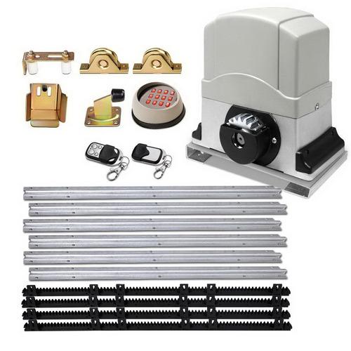 Dwell Lifestyle Grey Lock Master Electric LED Sliding Gate Opener