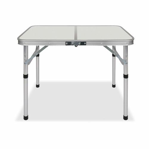 Dwell Lifestyle Silver Fulton Metal Folding Table