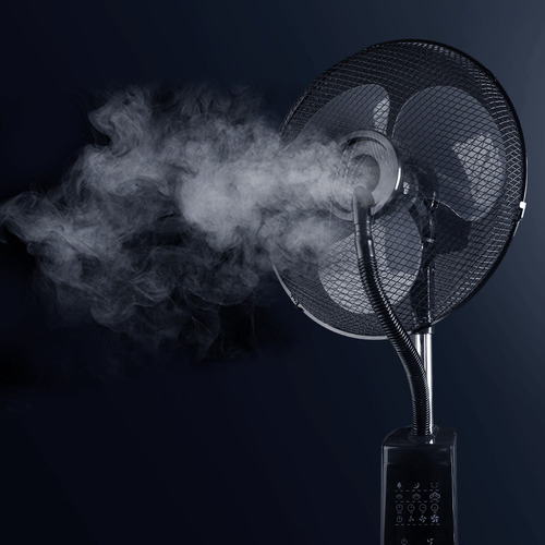 Dwell Lifestyle Black Devanti Portable Misting Fan