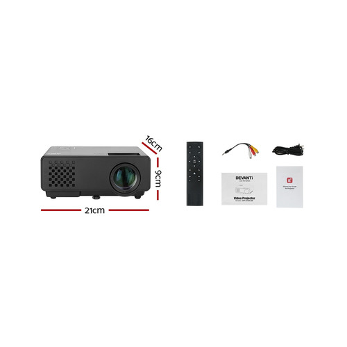 Dwell Lifestyle Black Devanti Portable WiFi Projector