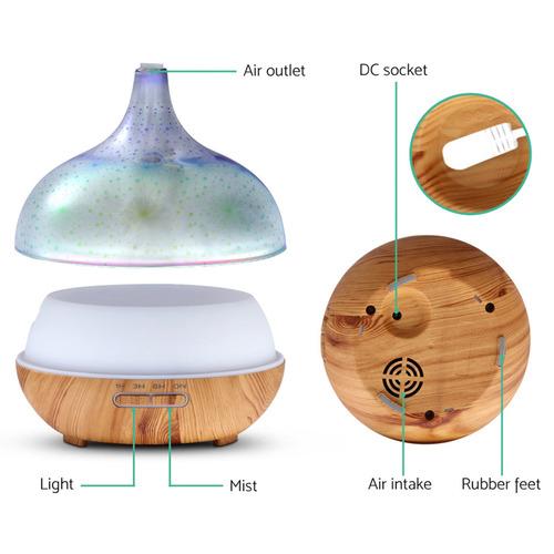 Dwell Lifestyle 400ml Devanti 3D Lightning Effect Aroma Diffuser