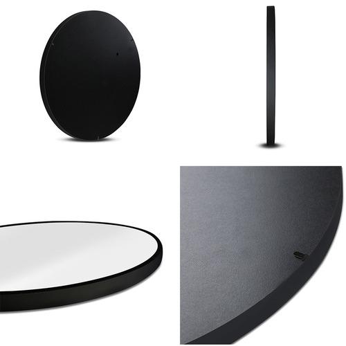 Dwell Lifestyle Black Minerva Round Wall Mirror