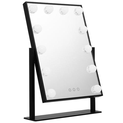 Dwell Lifestyle Black Embellir Standing LED Make-Up Mirror