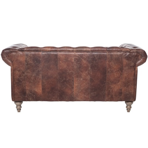 Chartwell Home Hugo Chesterfield 2 Seater Leather Sofa