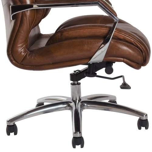 Chartwell Home Chocolate Barnaby Leather Office Chair