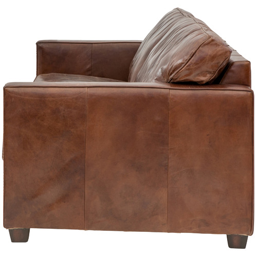 Chartwell Home Peyton 3 Seater Aged Leather Sofa