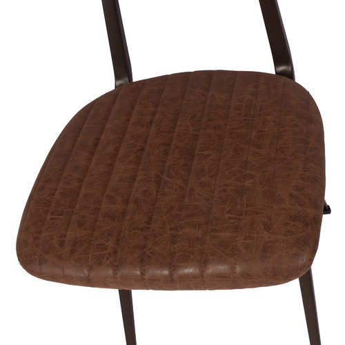 Chartwell Home Brown Quinn Faux Leather Dining Chair