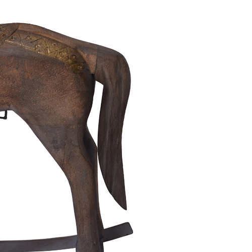 Chartwell Home Antique Brown Astrid Rocking Horse Ornament