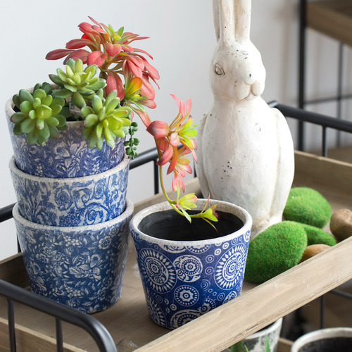 Chartwell Home 4 Piece Rachael Terracotta Planter Set