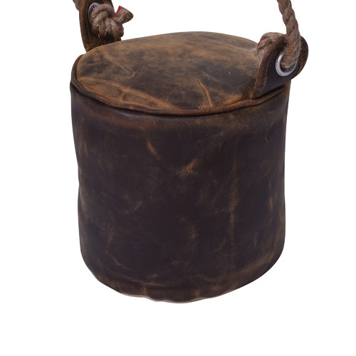 Chartwell Home Tan Astrid Round Leather Door Stop