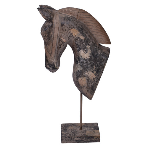 Chartwell Home 3 Piece Antique Brown Astrid Horse Head Ornament Set
