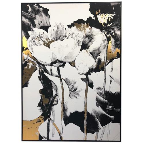 Flower Framed Canvas Wall Art