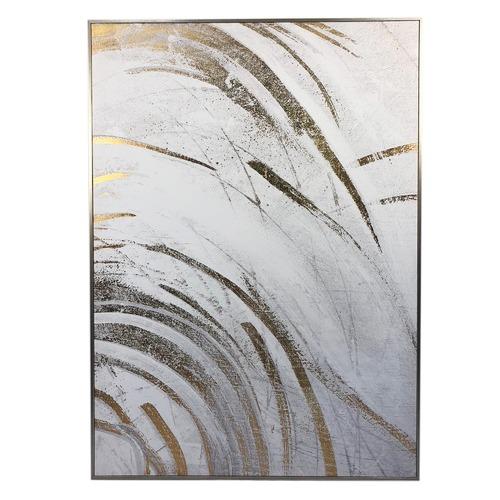 Brushed Gold Framed Canvas Wall Art | Temple & Webster