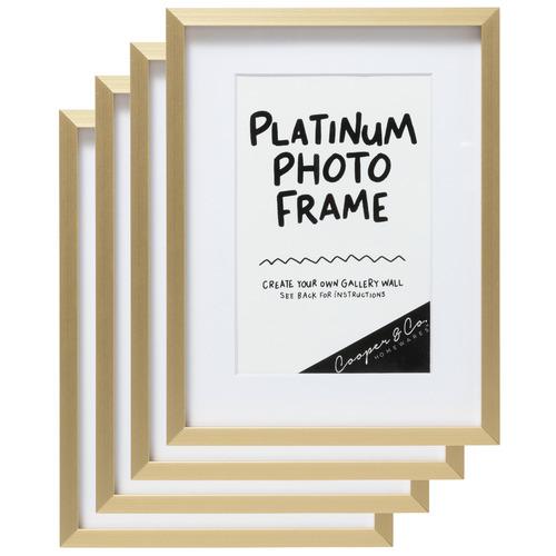 Cooper & Co Homewares Platinum Metal Poster Frame