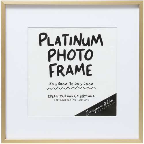 Cooper & Co Homewares Platinum 31 x 31 Metal Photo Frame