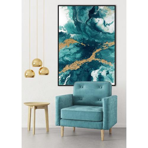 Cooper & Co Homewares Green Gold Foil Framed Canvas Wall Art