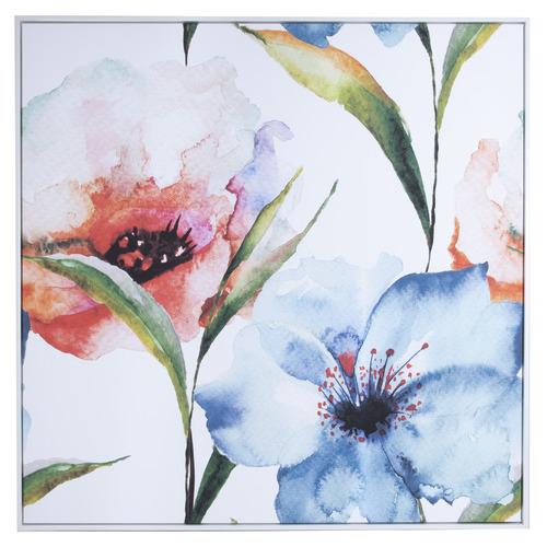 Cooper & Co Homewares Bleu Water Flower Framed Canvas Wall Art