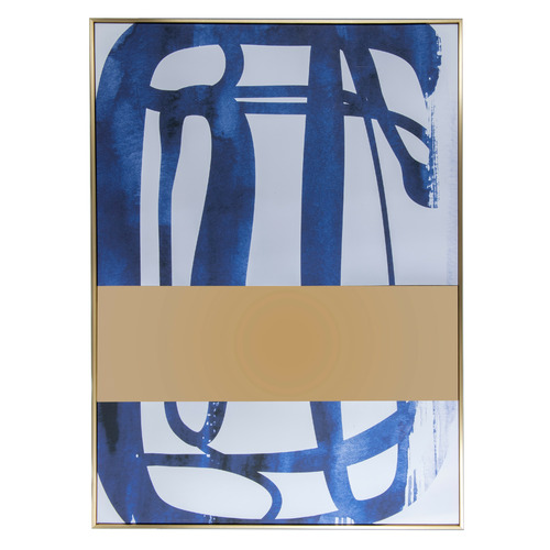 Cooper & Co Homewares Abstract Blue Framed Canvas Wall Art