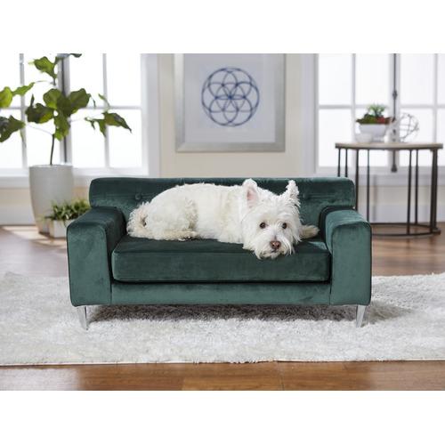 Cooper & Co Homewares Emerald Green Martine Velvet Pet Sofa