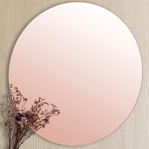 Cooper & Co Homewares Rose Gold Round Frameless Wall Mirror