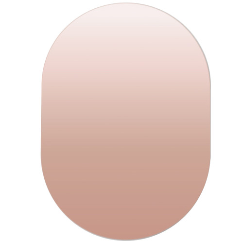 Cooper & Co Homewares Rose Gold Oval Frameless Wall Mirror