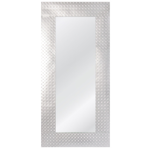 Cooper & Co Homewares 125cm White Rectangular Metal Wall Mirror