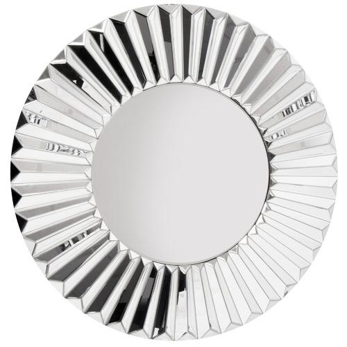 Cooper & Co Homewares Silver Round Metal Wall Mirror