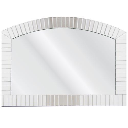 Cooper & Co Homewares Silver Arched Metal Wall Mirror