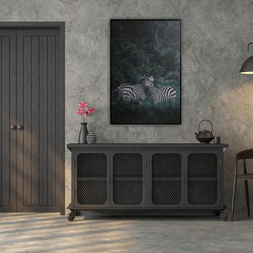 Cooper & Co Homewares Zebra Framed Canvas Wall Art