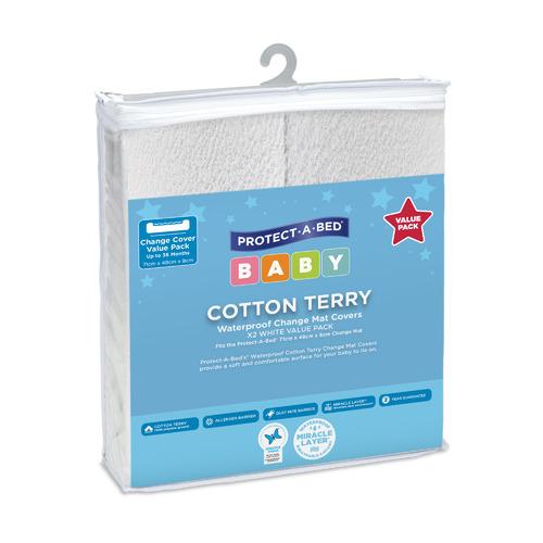 Cooper & Co Homewares Waterproof Terry Cotton Change Mat Covers
