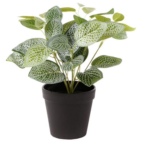28cm Potted Faux Vein Plant