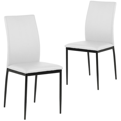 Cooper & Co Homewares Willis Faux Leather Dining Chairs