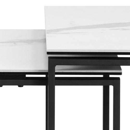 3 Piece Manhattan Porcelain Nesting Side Table Set