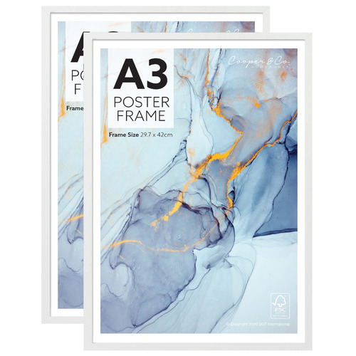 White Poster Photo Frames