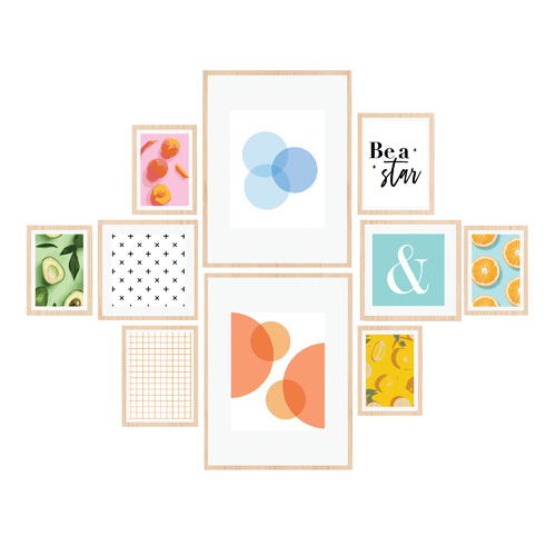 10 Piece Instant Gallery Wall Set