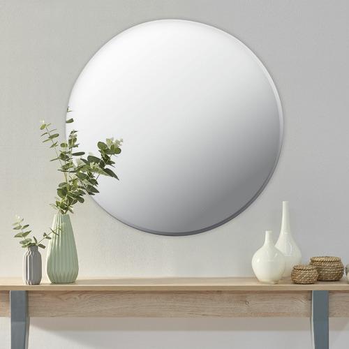 Urban Frameless Round Wall Mirror